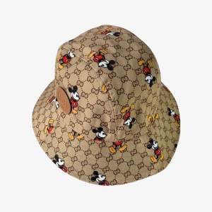 GG Mickey golden brown bucket hat - dot made
