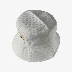 GG Logo white bucket hat - DOT MADE