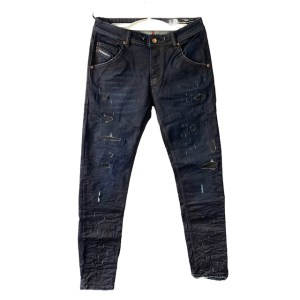 DSL Patched blue wax jeans - dot made