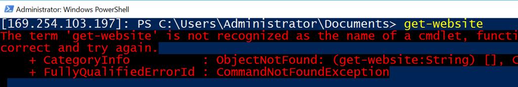 Nano, where is get-website (WebAdministration)? – DOTNET
