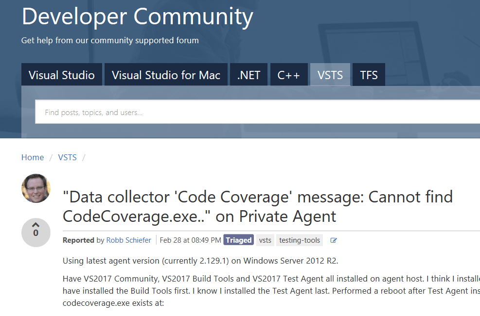 Cannot find CodeCoverage exe  – DOTNET CATCH – Blogging  NET, C# and