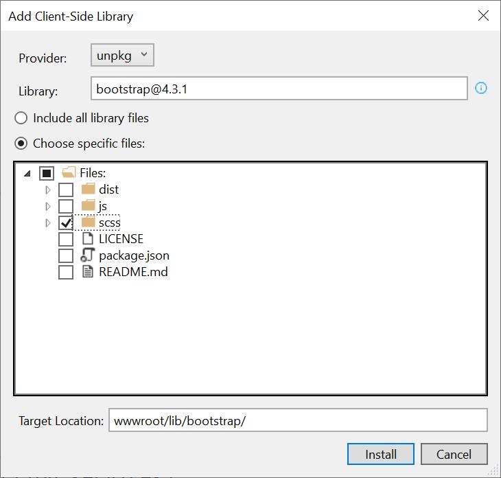 Adding Bootstrap SASS to ASP NET Core – DOTNET CATCH