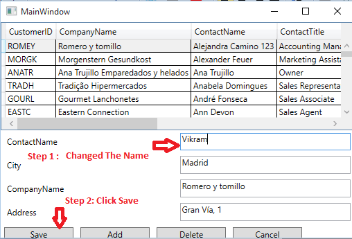 Add/Edit/Delete DataGrid Using Master-Details View WPF • Dot