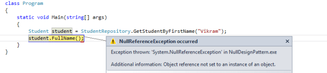 Null Reference Pattern