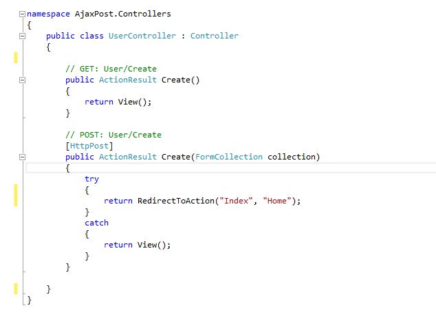 Post form data to controller in ASP.NET MVC using Ajax | DotNetXP