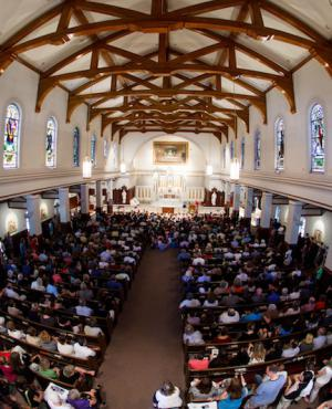 Memorial Mass for Martin Richard: More than 640 people attended this morning's Mass at St. Ann Church in Neponset. Photo by Gregory L. Tracy/ Pilot Media Group