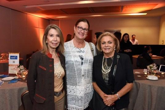 Maud Acuña, gerente de ventas de Avis; Evelyn Sacchetti, gerente experiencia en viajes Turavion; Angélica Taibo, ejecutiva de ventas Travel Club.