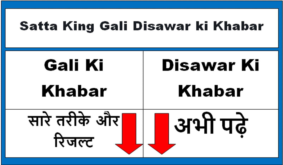 Satta King Gali Disawar Ki Khabar