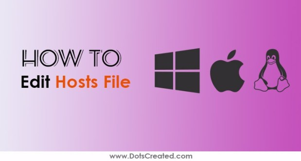edit hosts file windows mac linux - dots created