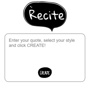 recite quote image maker
