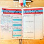 Monthly Bullet Journal Log June 2020