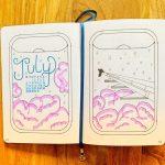 June Bullet Journal Spread Cover