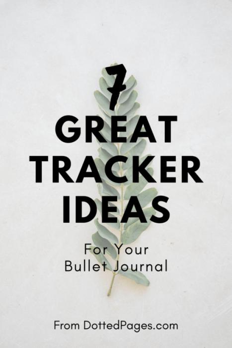 7 Bullet Journal Tracker Ideas