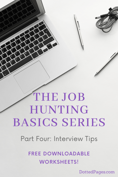 Job Hunting Interview Tips Pin