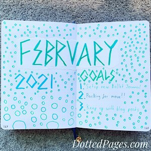 February 2021 Bullet Journal Cover Page