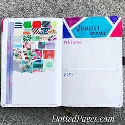 Bullet Journal Vol.4 Washi & Wishlist