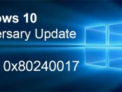 Errore 0x80240017 durante l'aggiornamento a Windows 10 Anniversary Update