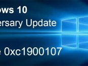 Errore 0xc1900107 durante l'aggiornamento a Windows 10 Anniversary Update