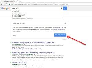 run speed test google
