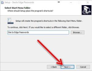 SterJo Edge password setup 3