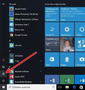 Impostazion Windows 10