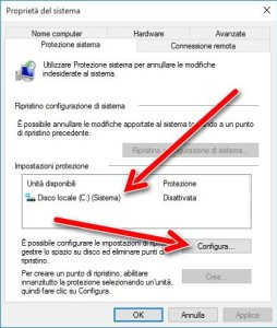 Proprieta del sistema windows 10