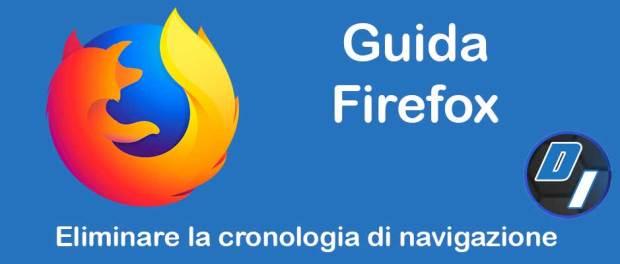 eliminare la cronologia di navigazione di Firefox