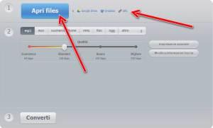 Online audio converter Apri files