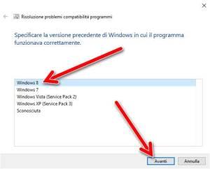 Versione sistema operativo in cui il programma funzionava correttamente
