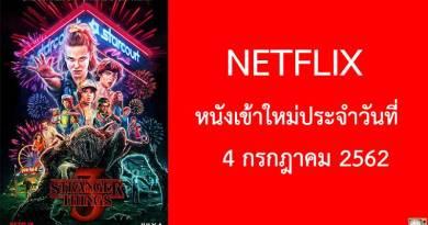 Netflix หนังเข้าใหม่ประจำวันที่ 4 กรกฎาคม 2019