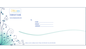 Business envelope (Blue design)