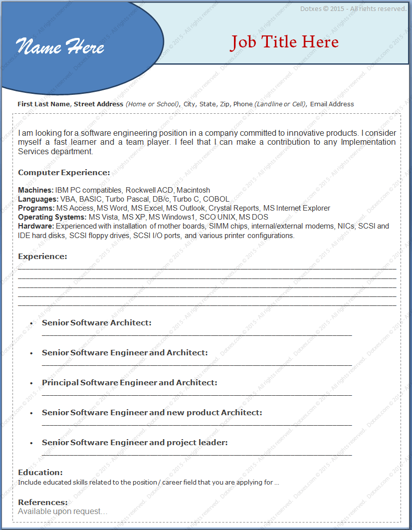 best resume format for experienced professionals best resume
