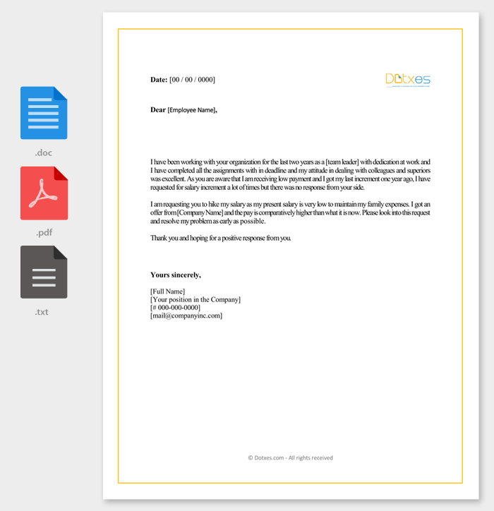 Salary Increment Letter 14 Best Printable Samples And Formats