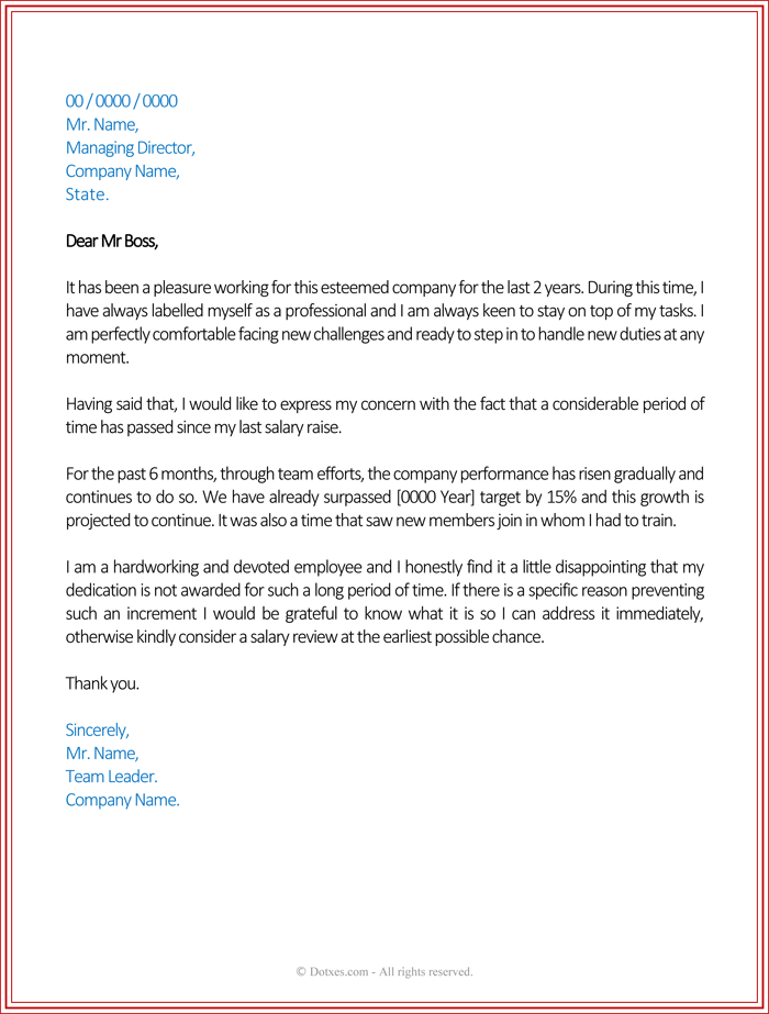 Request letter for salary increment template examples sample complaint letter job thecheapjerseys Images