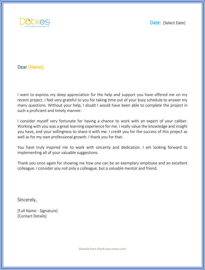 thank you for your support letter best sample letters you should send