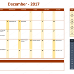 December 2017 Calendar with Holidays