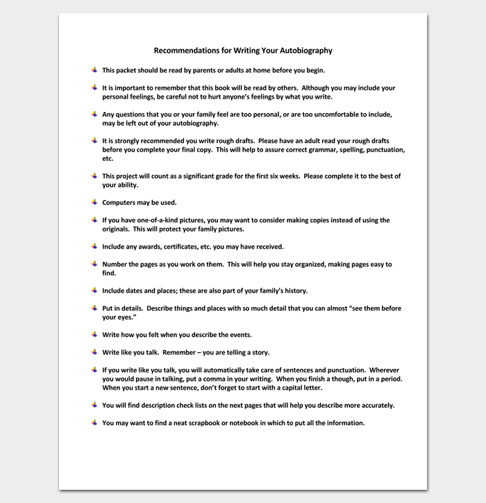 Autobiography Template | Autobiography Outline Template 23 Examples And Formats