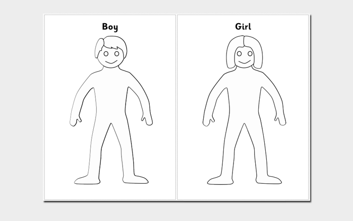 Human Body Outline Template - 32+ Printable Worksheets ...