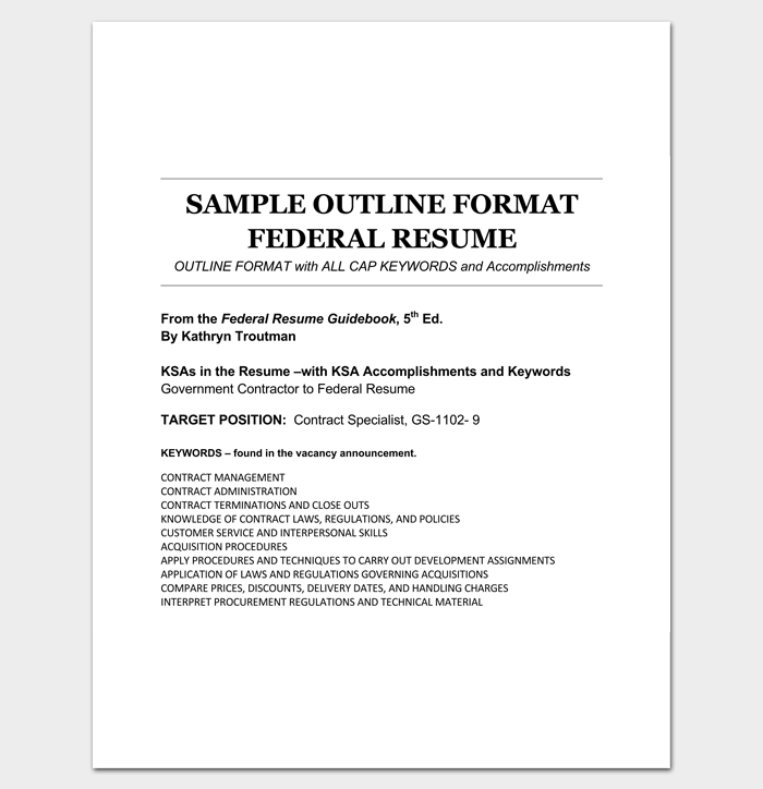 outline format example