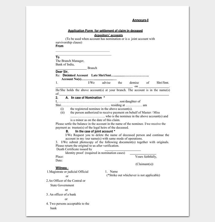 Claim Settlement Letter Format 1