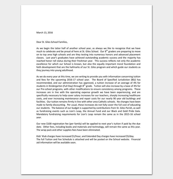 Financial Hardship Letter for School 1
