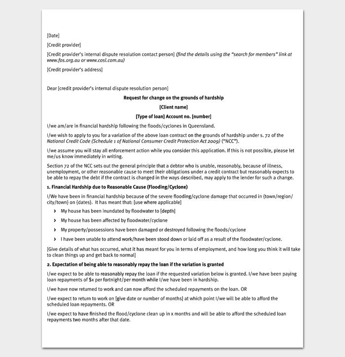 Hardship Request Letter PDF 1