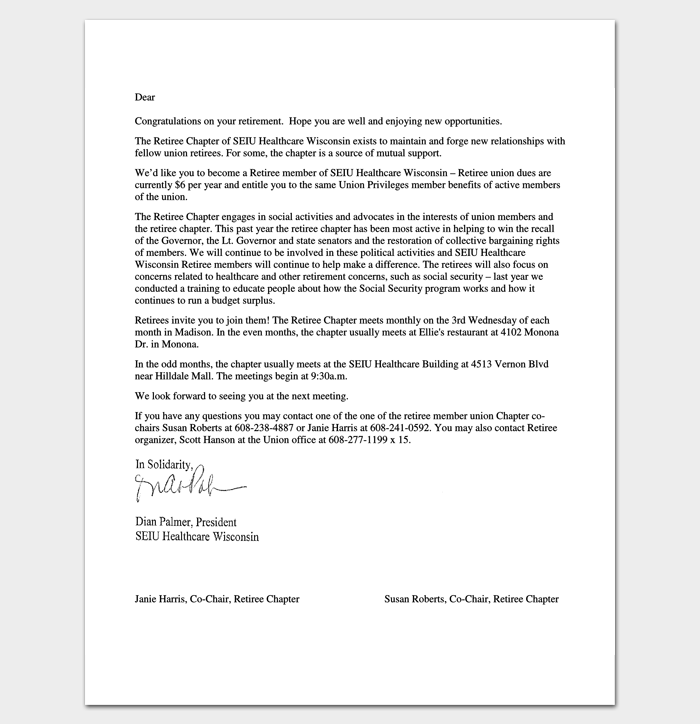 congratulation letter template