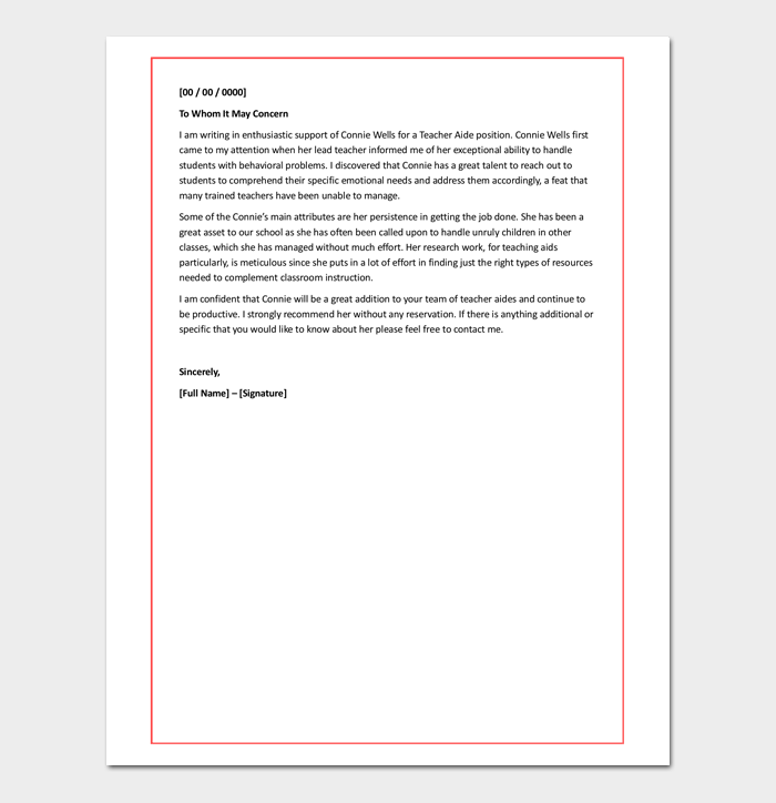 coworker recommendation letter - samples  u0026 examples