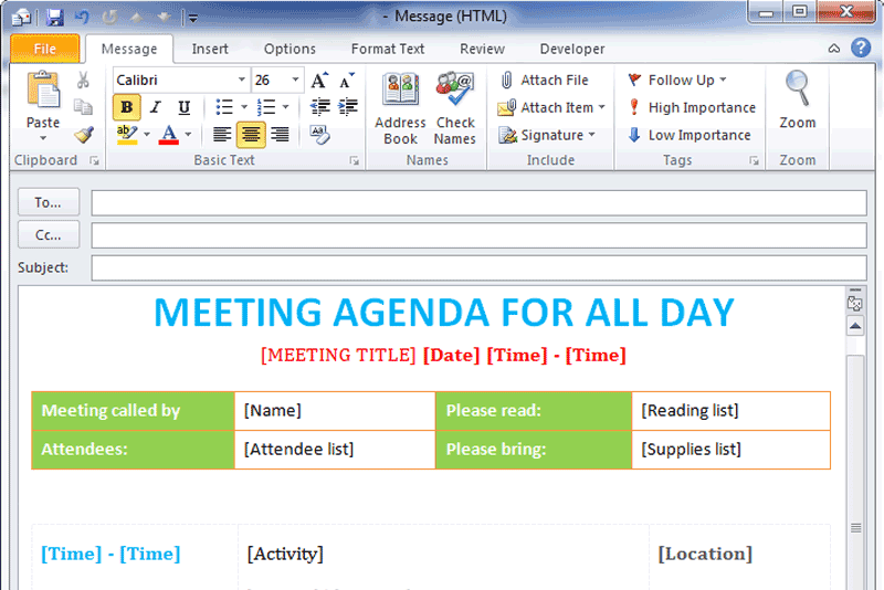 Pta Agenda Template  look for pre made pta meeting templates