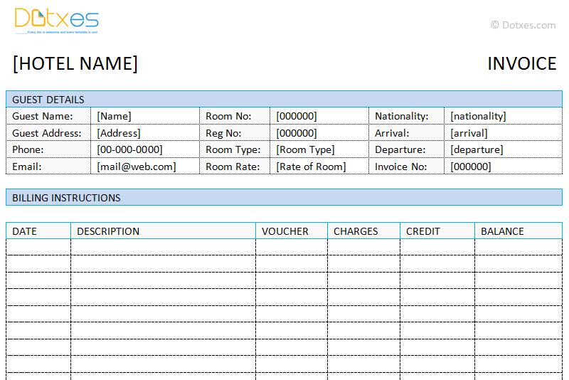 Bill Template Word free invoice template microsoft word billing – Bill Format in Word
