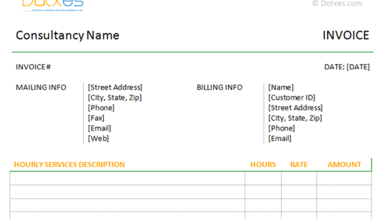 blank construction invoice template – residers, Invoice templates