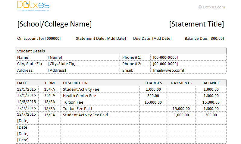 Student Fees Invoice Template (IN Microsoft Word, Featured Image)