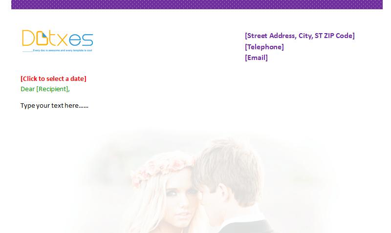 Wedding Letterhead Template (Featured Image)
