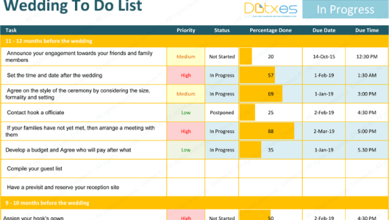 Wedding To Do List Template – Ideal Planning Checklist